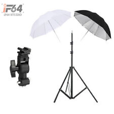 "Photography lighting Kit Light Stand + 33"" Black/Sliver &White Two Umbrellas"