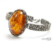 NATURAL BALTIC AMBER Jewellery STERLING SILVER 925 BRACELET Certified