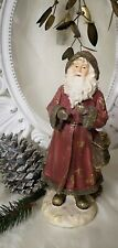 Santa Claus Decorative Figurine Christmas Shabby Chic Landhaus 11 3/8in
