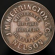 More details for nd 1865-68   new zealand j.m. merrington & co. nelson penny token   km coins