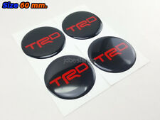Stickers Resin Reflect Logo Decor Emblem Wheels Center Caps for TRD 60mm. 4pcs.