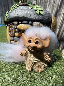 "ooak troll With Tail - Dam Troll Modified 3"" - Blue Eyes"
