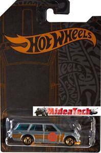 2019 Hot Wheels 51st Anniversary Satin & Chrome '71 Datsun 510 Wagon Diecast Car