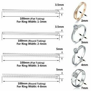 12 PCS Ring Size Adjuster Invisible Clear Ring Jewelry Fit Reducer Guard New