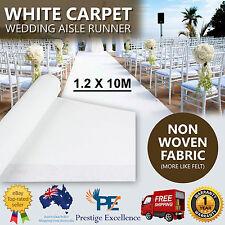 NEW 1.2m x 10m White Carpet Aisle Runner Wedding Ceremony Party Event Decoration