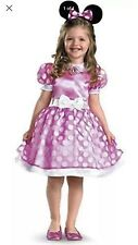 Nip New disney Minnie Mouse Girl Costume Dress Heab Piece Mickey Mouse Ears 4-6X