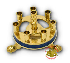 Orthodox Brass Candlestand Round & Triangular Coloured For House & Church Kerzen