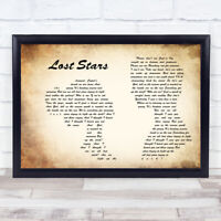 Lost Stars Man Lady Couple Song Lyric Quote Print