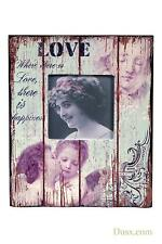 Love Vintage Antique Style Pink Wooden Photo Picture Frame 20 X 25cm