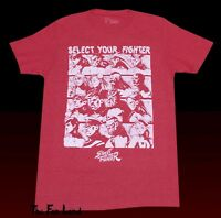 New Street Fighter 1987 Character Select Capcom Mens Vintage T-Shirt