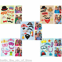 Photo Booth Props Boys Girls Childrens Kids Birthday Party Fancy Dress