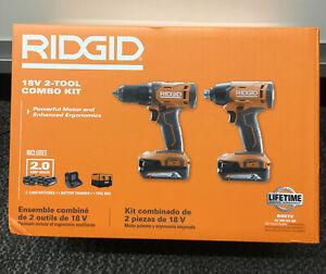 Ridgid R9272 18V 2-Tool Combo Kit NEW