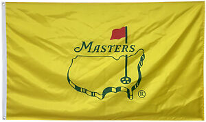 The Masters Flag Golf Augusta TIger Yellow 3x5ft Banner