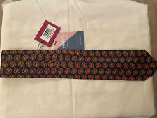 Charles Tyrwhittexclusive range 7 fold teal printed medallion tie