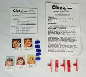 Clue Jr Replacement Games Pieces Parts Suspect Movers Missing Pet Trap Doors Lot