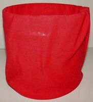 Solid Red Tubular Multi Function Headwear 12 USES! Beanie Scarf Face Mask