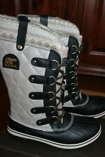 Sorel TOFINO Holiday SILVER Sage FAIR ISLE Knit WINTER Waterproof Snow BOOTS  10
