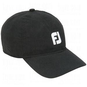 FOOTJOY DRYJOYS BASEBALL ADJUSTABLE RAIN HAT/CAP (BLACK)(PREVIOUS SEASON)