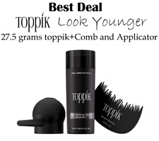 TOPPIK Hair Building Fibers Medium Brown 27.5g With Spray Applicator+Free Comb..
