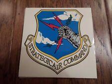 "U.S MILITARY AIR FORCE STRATEGIC AIR COMMAND WINDOW DECAL STICKER 3.5"" X 3.5"""