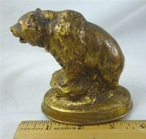 BRONZE GRIZZLY STATUE EXCELLENT HIGHLY DETAILED ORIGINAL DISPLAY PIECE