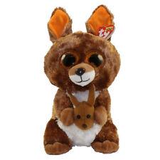 "Ty Beanie Boos 9"" MEDIUM Kipper the Kangeroo Stuffed Animal Plush w/ Heart Tags"