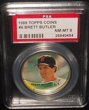 PSA 8 NM-MT 8 - #6 Brett Butler 1989 Topps Coins San Francisco Giants
