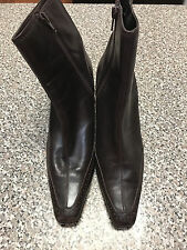 Etienne Aigner Brown Size 9M Side Zip Ankle Bootie Boots Heels