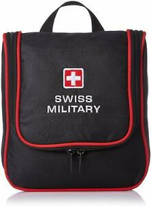 Swiss Military Polyester Black and Red Toiletry Kit  KU
