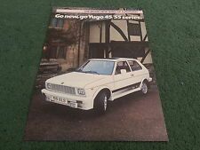 1984 1985 YUGO Zastava 45 45 GL 55 L 55 GLS - UK COLOUR LEAFLET BROCHURE