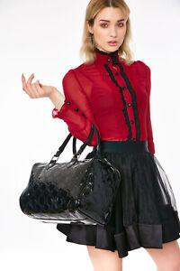 Jawbreaker Womens Crossbones Bag Handbag Satchel Alternative Gothic Goth Punk