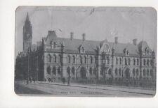 Town Hall Middlesbrough Vintage Alumino Postcard 190b