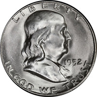 1952-S Franklin Half Dollar Choice BU - STOCK