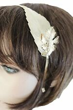 New Women Casual Wear Long Gold Metal Leaf Charm Headband Hair Accessory Spring