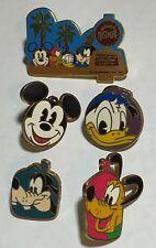 Disney Cruise Line Mount Mt Rustmore Mickey Pluto Donald Goofy Buoy Pin Set Lot