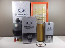 GENUINE SSANGYONG REXTON 2.7L TD Y200 & Y220II FILTER PACK (OIL+AIR+FUEL FILTER)