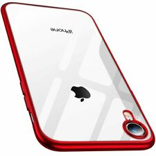 RANVOO For iPhone XR Case Clear Back Red Edges Silicone Soft Rubber Cover Shell