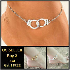 Ankle Bracelet Foot Chain Handcuffs Beach Gold Silver Anklet