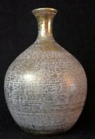 """Stangl Weed Vase -   8.5"""" Antique Gold 1950's Vintage Mid-Century Modern Pottery"""