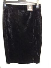 M&S black velvet pencil skirt, size 18, with lots of stretch. Great for parties!