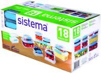 Sistema Klip It Accents 18Piece Food Storage Container Set