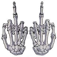 Kreepsville 666 Skelli Skeleton Hand Finger Bone Goth Pair Iron On Patch P014FR