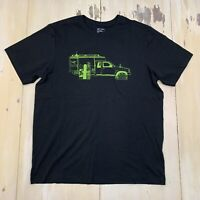ARCTERYX - NWOT Black Adventure Wagon Winter Camping Truck t-shirt, Mens LARGE