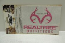OFFICIAL • REALTREE OUTFITTERS • 5 Inch Vinyl Logo Window Decal • Pink RDE1208
