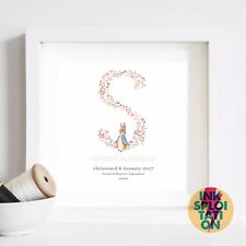 e27f24d82431 Peter Rabbit Personalised Print Christening Gift Nursery Baby Beatrix Potter