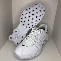 Nike Shox NZ EU Running Shoes Sneaker 501524-106 White Mens Size 10.5