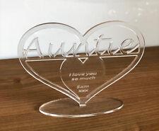 Personalised Auntie Heart Message Ornament Keepsake Birthday, Christmas Gift....