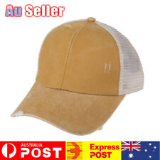 Ponytail Criss Cross Messy Buns Ponycaps Baseball Cap Dad Trucker Mesh Hat AU