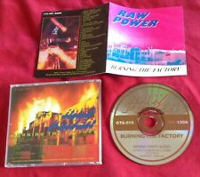 """RAW POWER """"Burning The Factory"""" CD Used (D.R.I., Bad Brains, D.O.A, Crucifix)"""