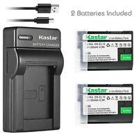 Kastar 2 Battery 27190 +Charger for Nikon EN-EL15a EN-EL15b D500 D600 D850 Z6 Z7